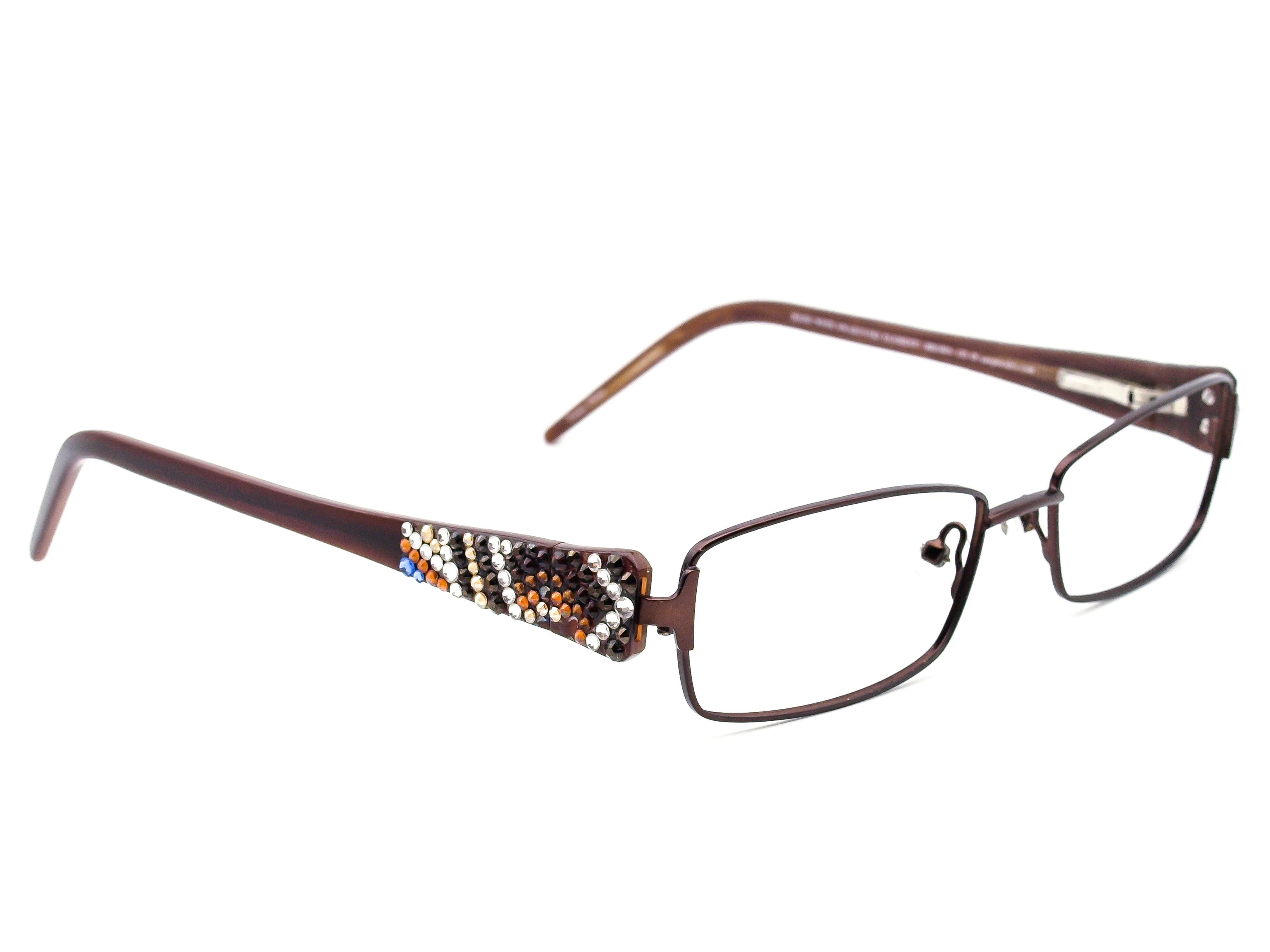 79e35435ebaf Jimmy Crystal Garbo Swarovski Elements Eyeglasses