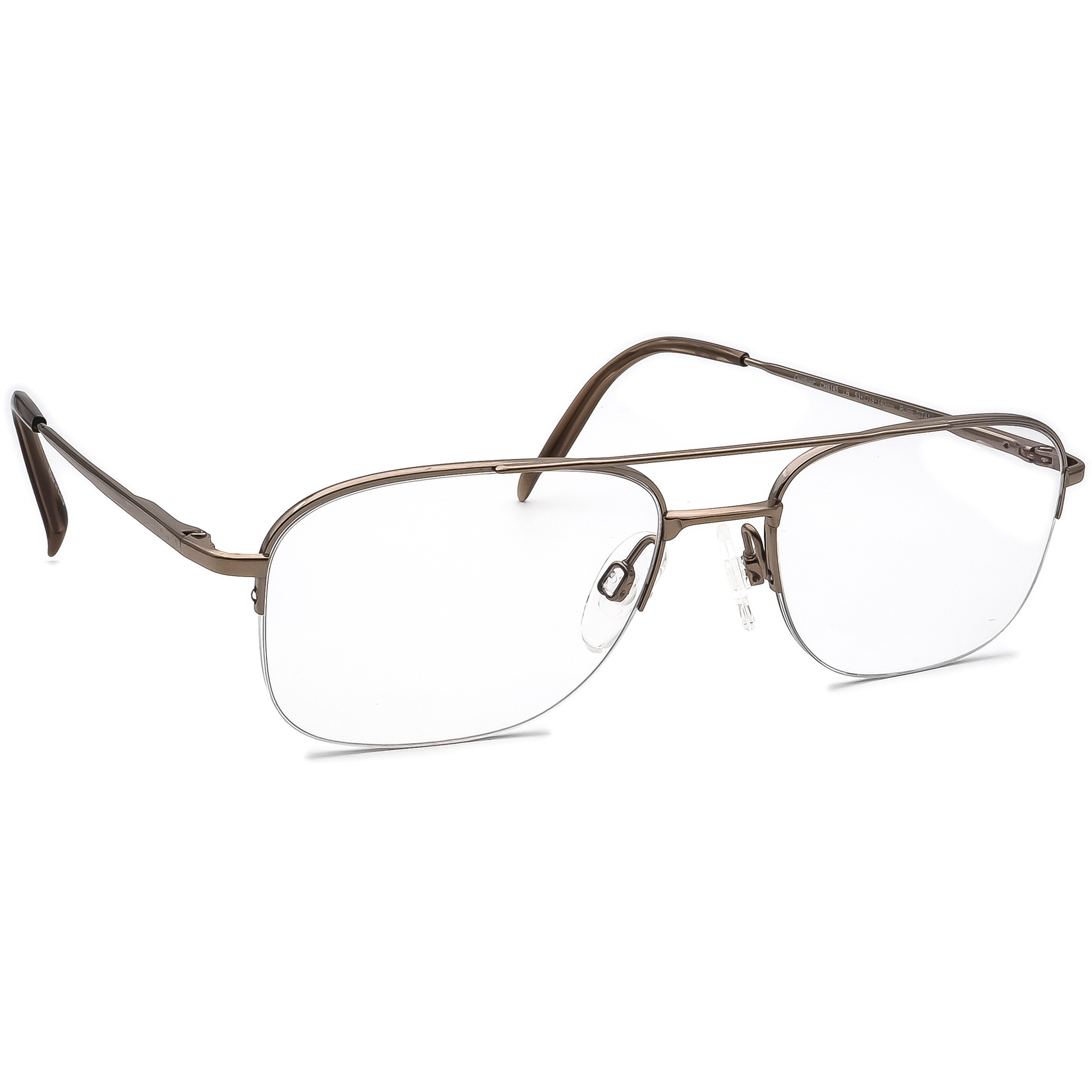 Charmant Eyeglasses CH8145 LB Pure Titanium Light Brown Half Rim 53[]18 140