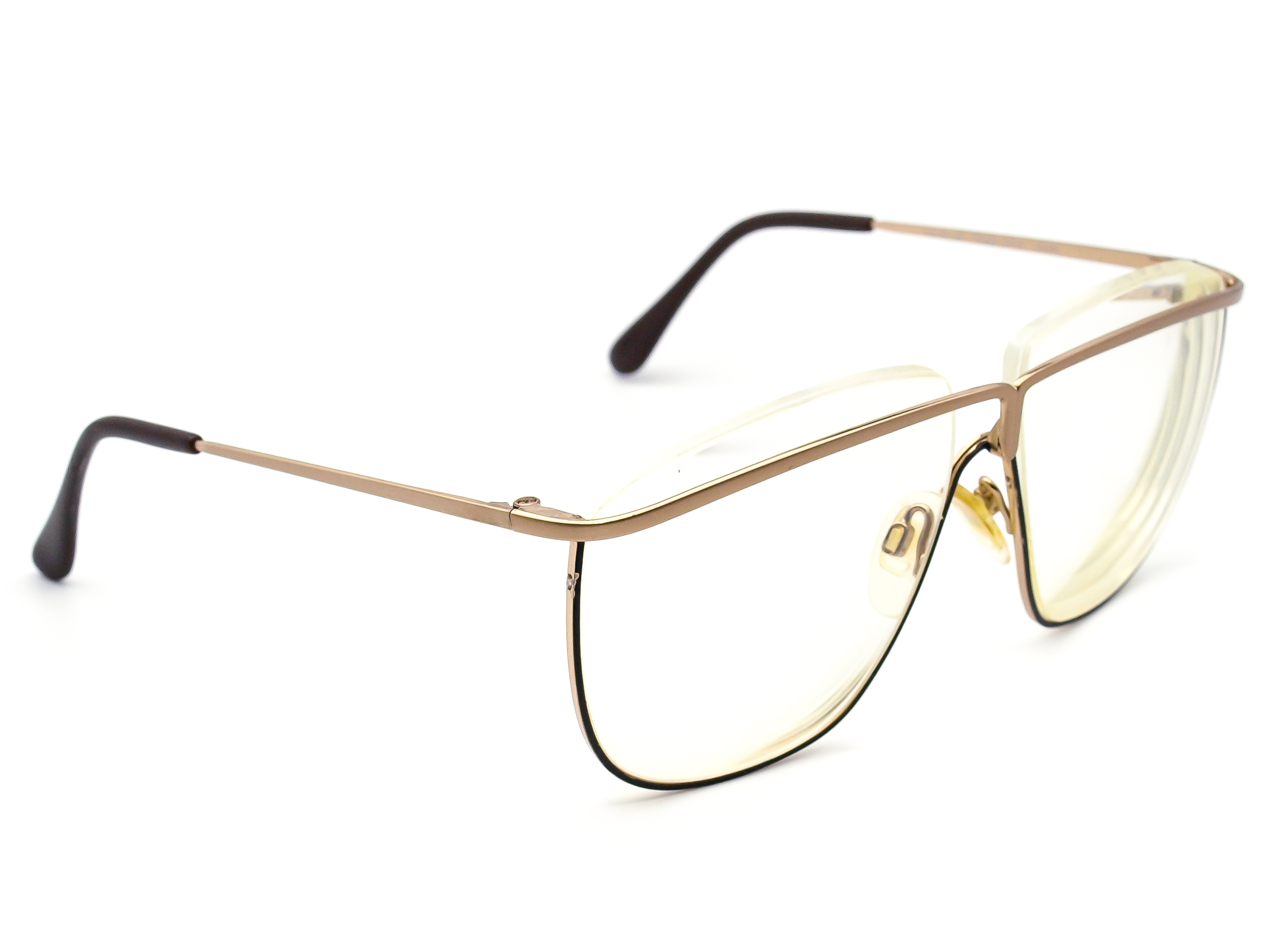 Charmant 490 Oversized Matte Gold & Black Eyeglasses