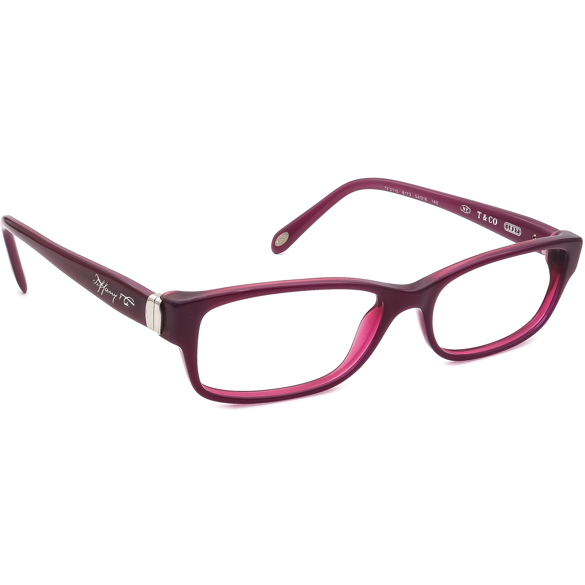 Tiffany & Co. Women's Eyeglasses TF 2115 8173 Purple Frame Italy 54[]16 140
