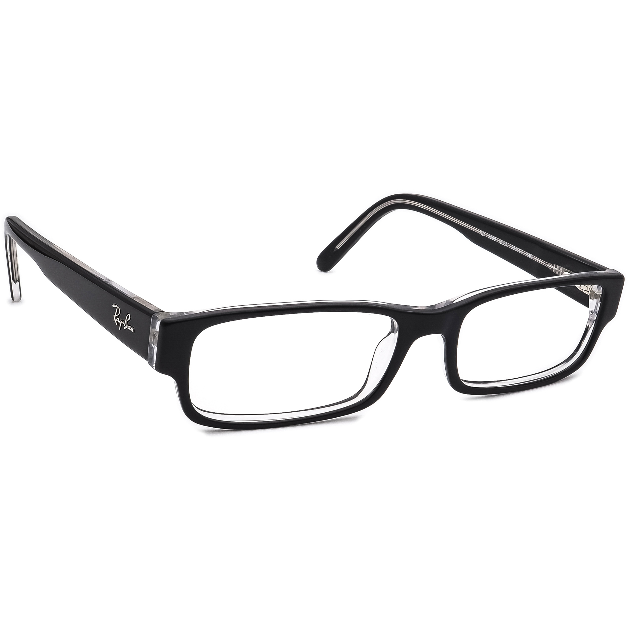 Ray Ban Eyeglasses RB 5069 2034 Black on Clear Rectangular Frame 53[]17 140