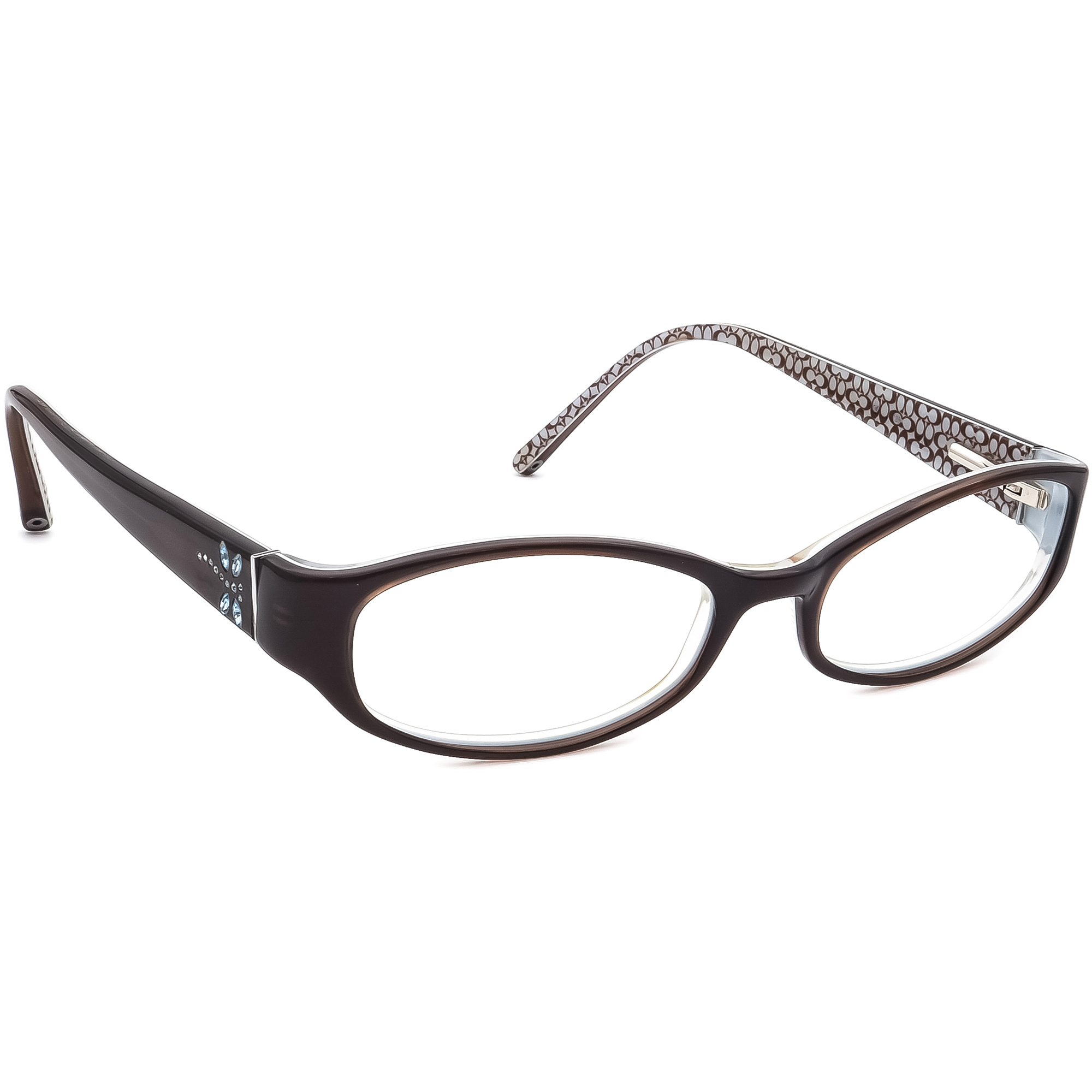 Coach Annabel 530 Brown Dragonfly Rhinestones Eyeglasses