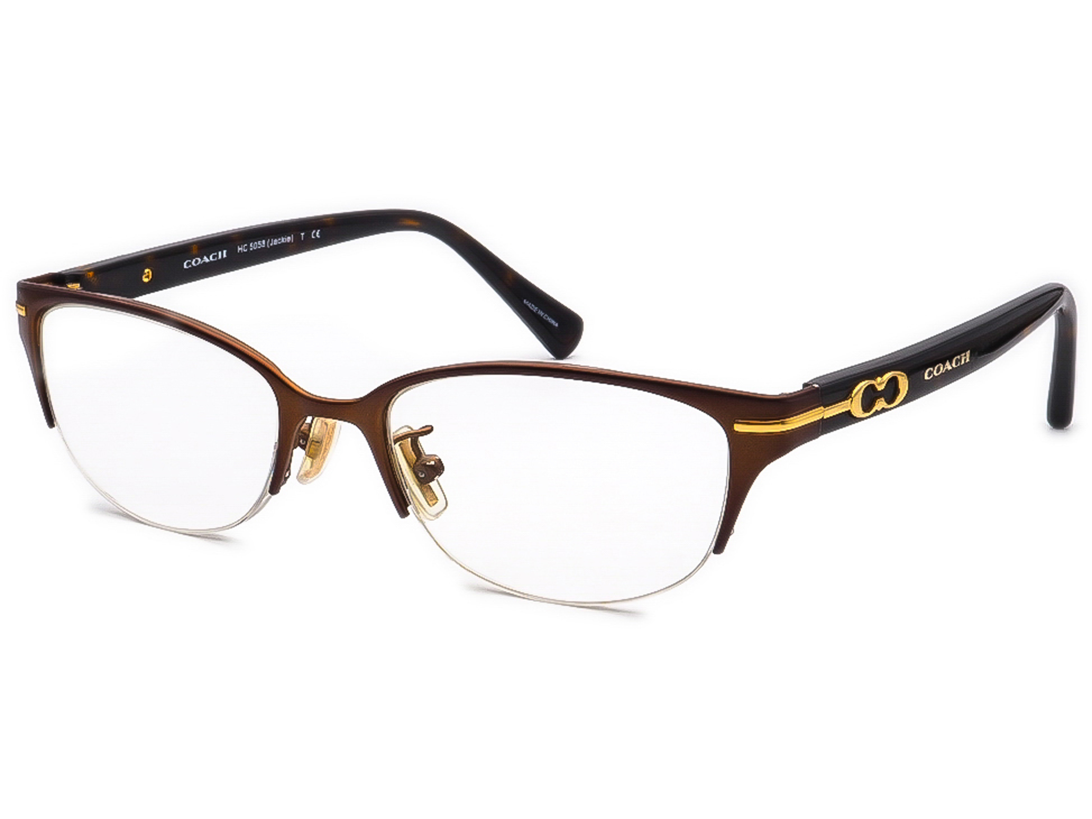 Coach HC 5058 Jackie 9199 Satin Dark Brown/Dark Tortoise Eyeglasses