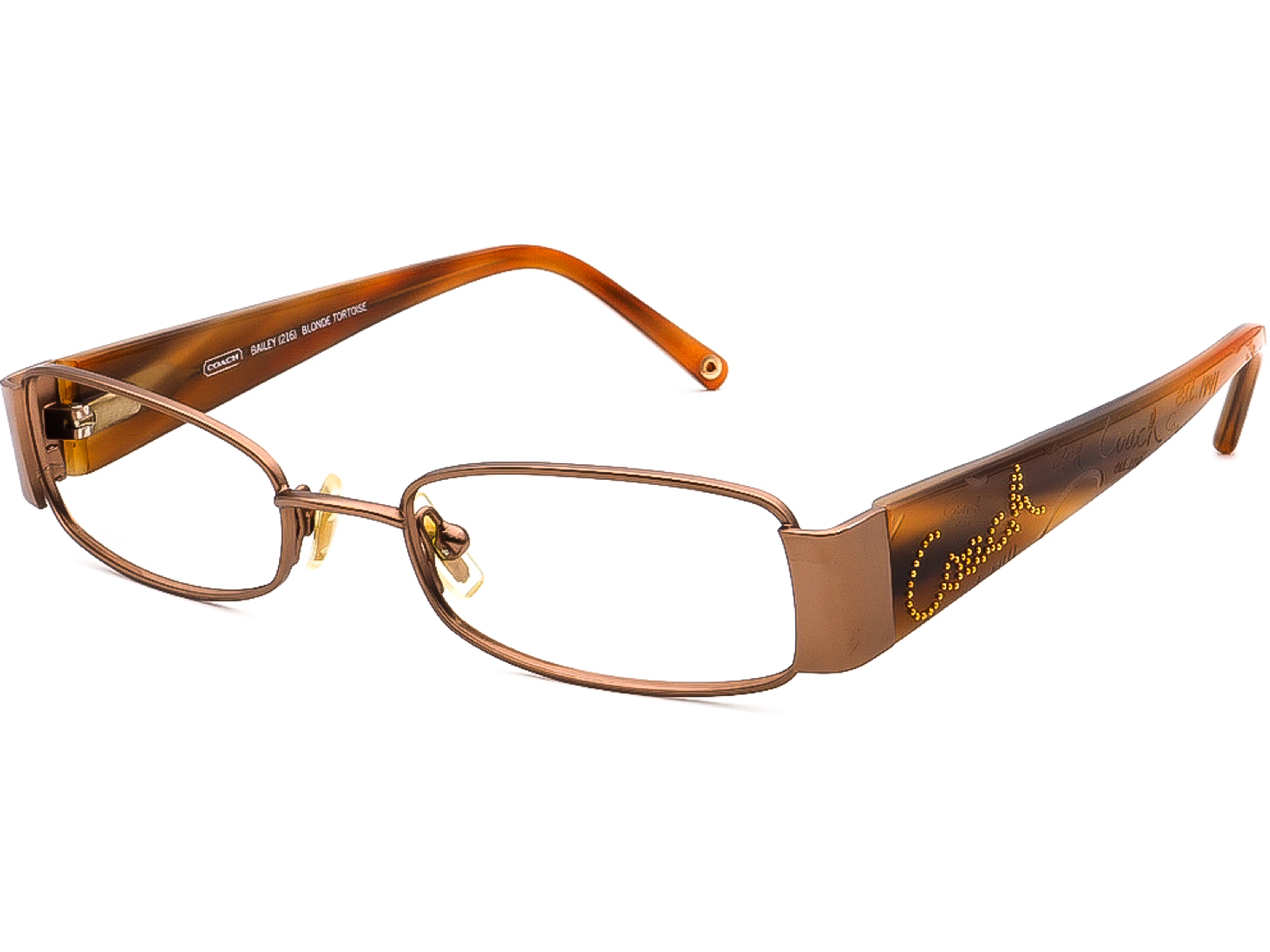 Coach Bailey 216 Blonde Tortoise Eyeglasses