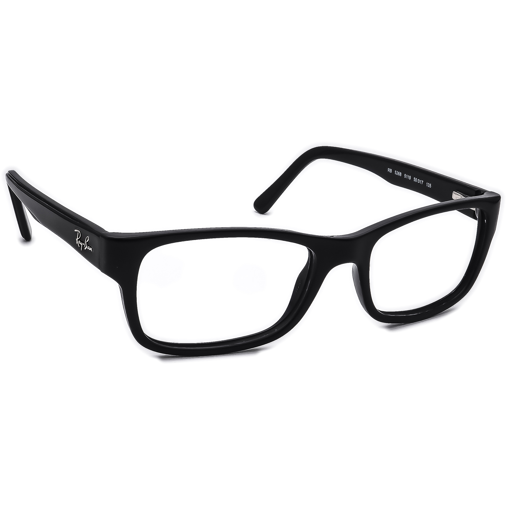 Ray Ban Eyeglasses RB 5268 5119 Black Rectangular Frame 50[]17 135
