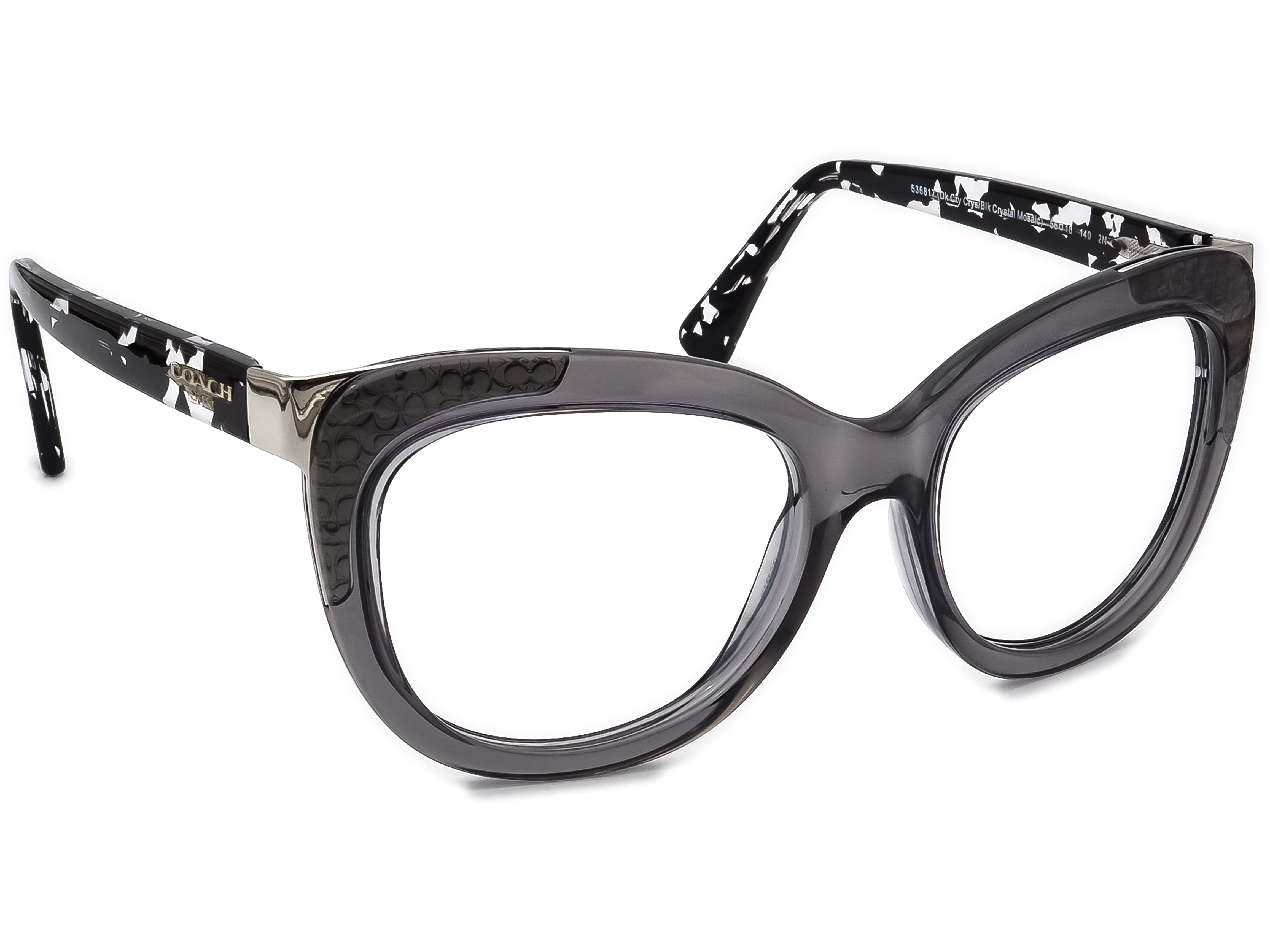Coach HC 8171 L152 536817 Dk Cry Crys/Blk Crystal Oversized Mosaic Sunglasses Frame Only