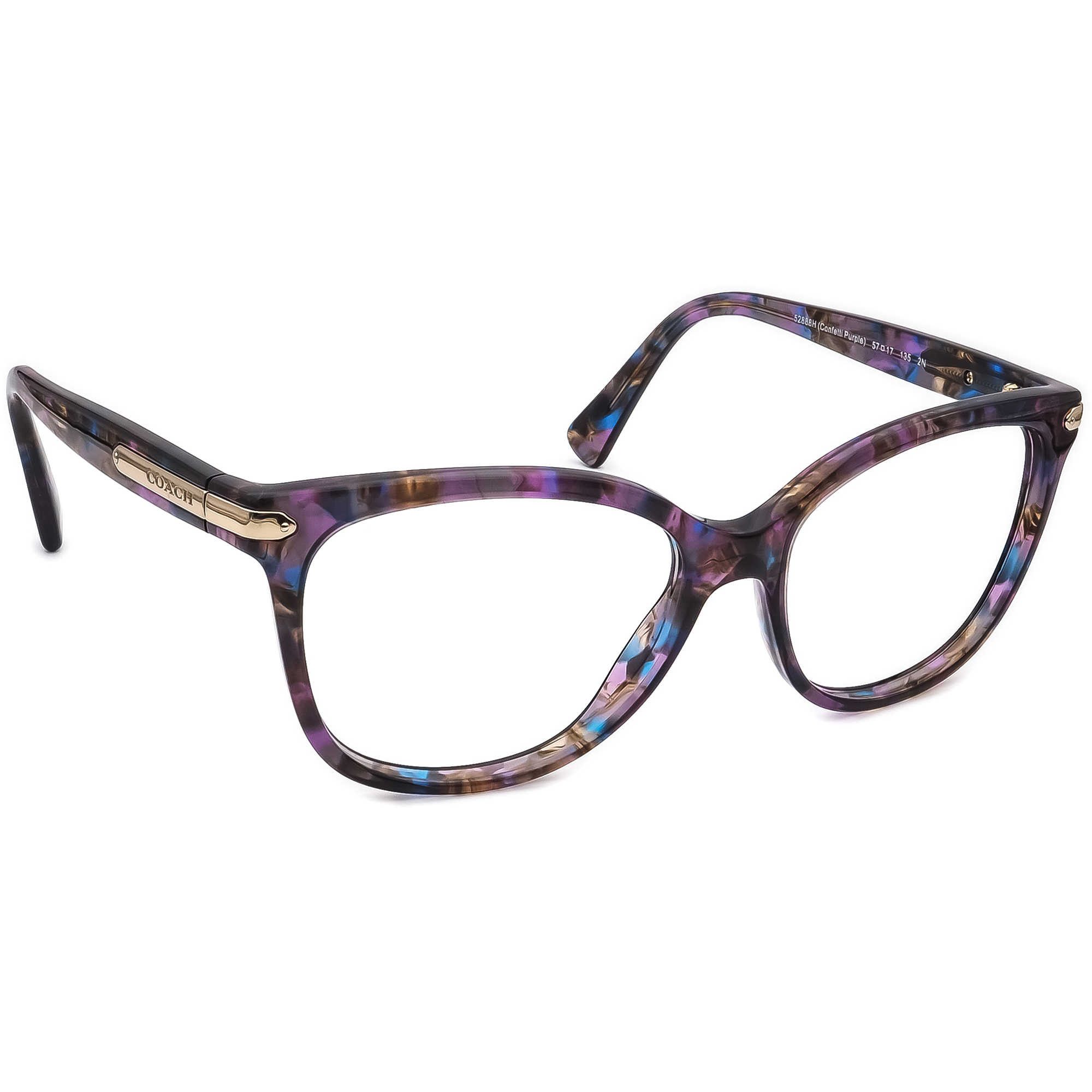 Coach Sunglasses FRAME ONLY HC 8132 L109 52888H Confetti Purple 57[]17 135