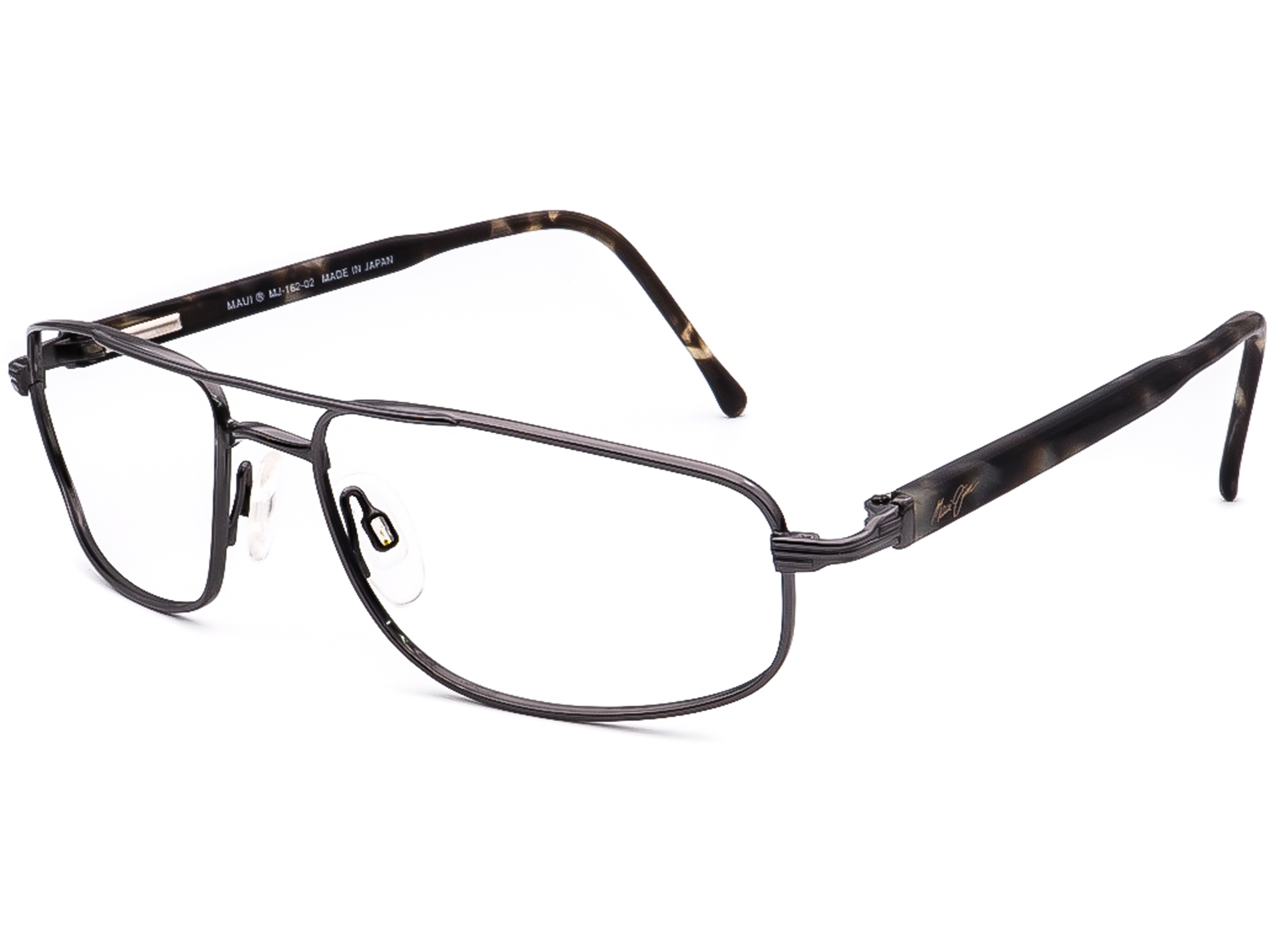 Maui Jim Women/'s Sunglasses Frame Only MJ-162-02 Gunmetal Pilot Japan 60 mm