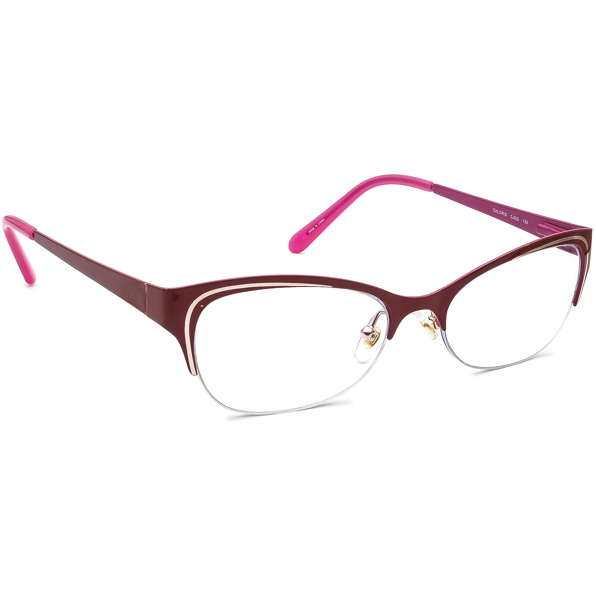 Kate Spade Eyeglasses Chloris 0JSQ Opaque Red Half Rim Metal Frame 52[]17 135