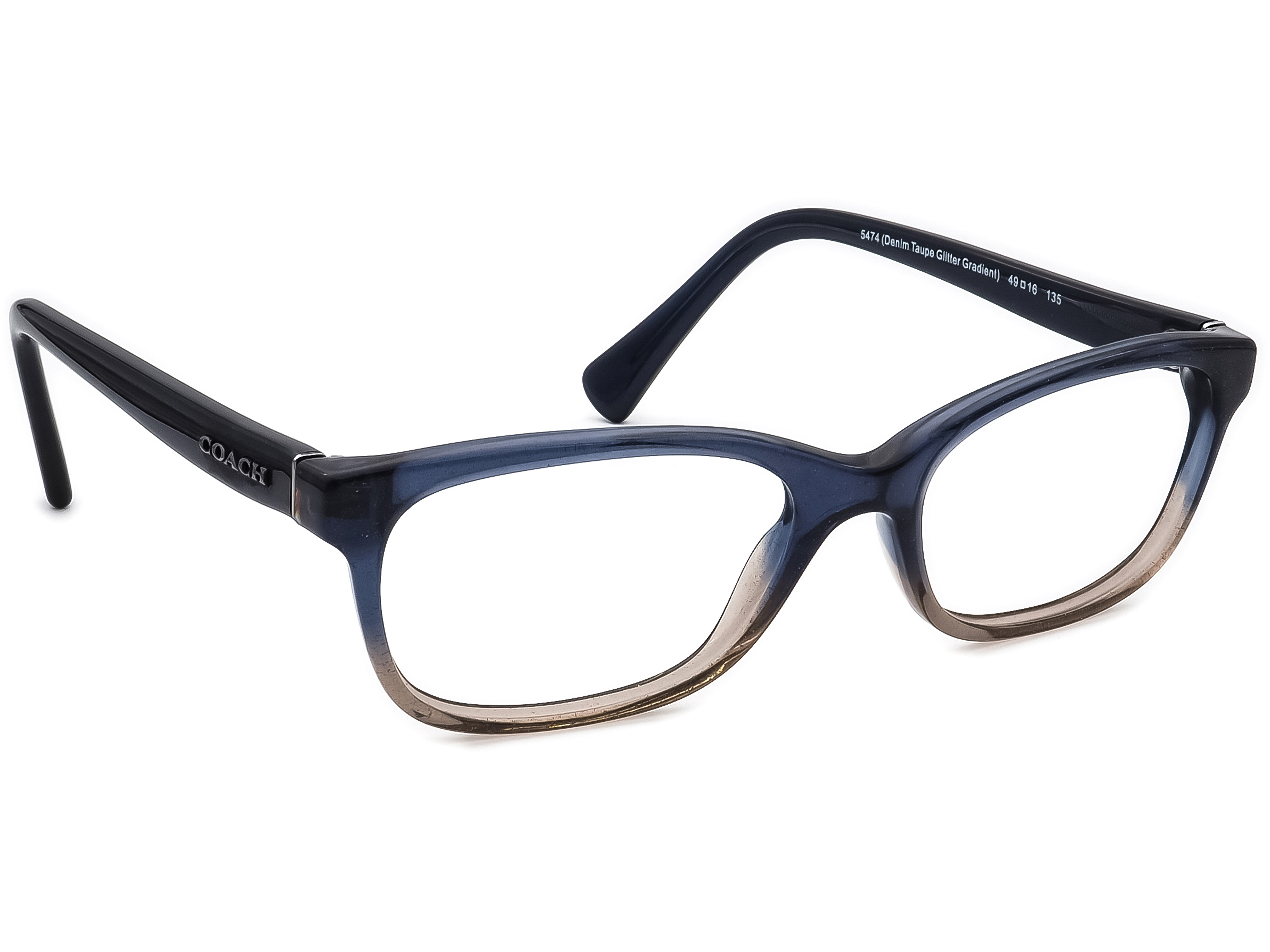 Coach HC 6089 5474 Denim Taupe Glitter Gradient Eyeglasses
