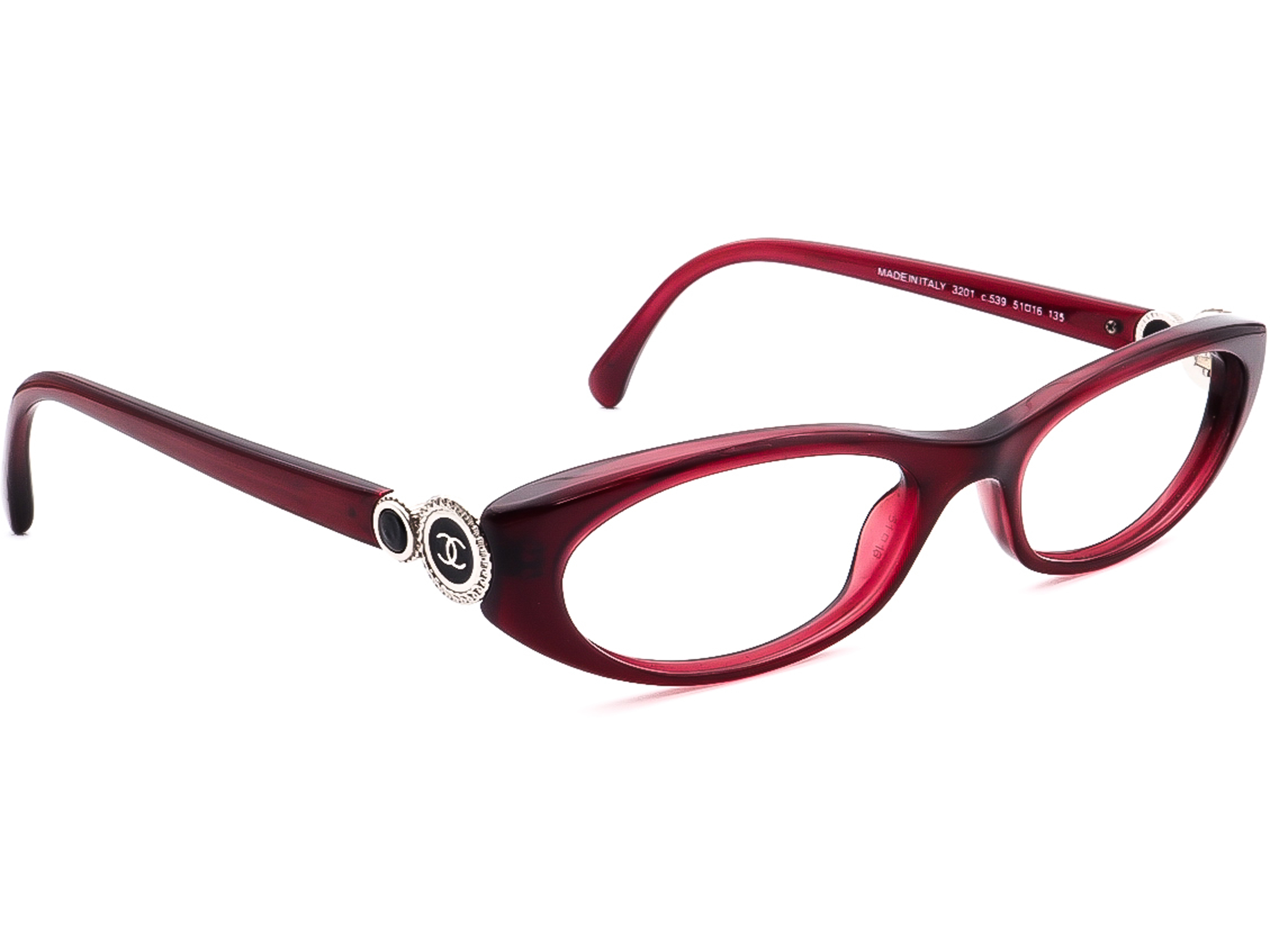 Chanel 3201 C.539 Collection Bouton Eyeglasses