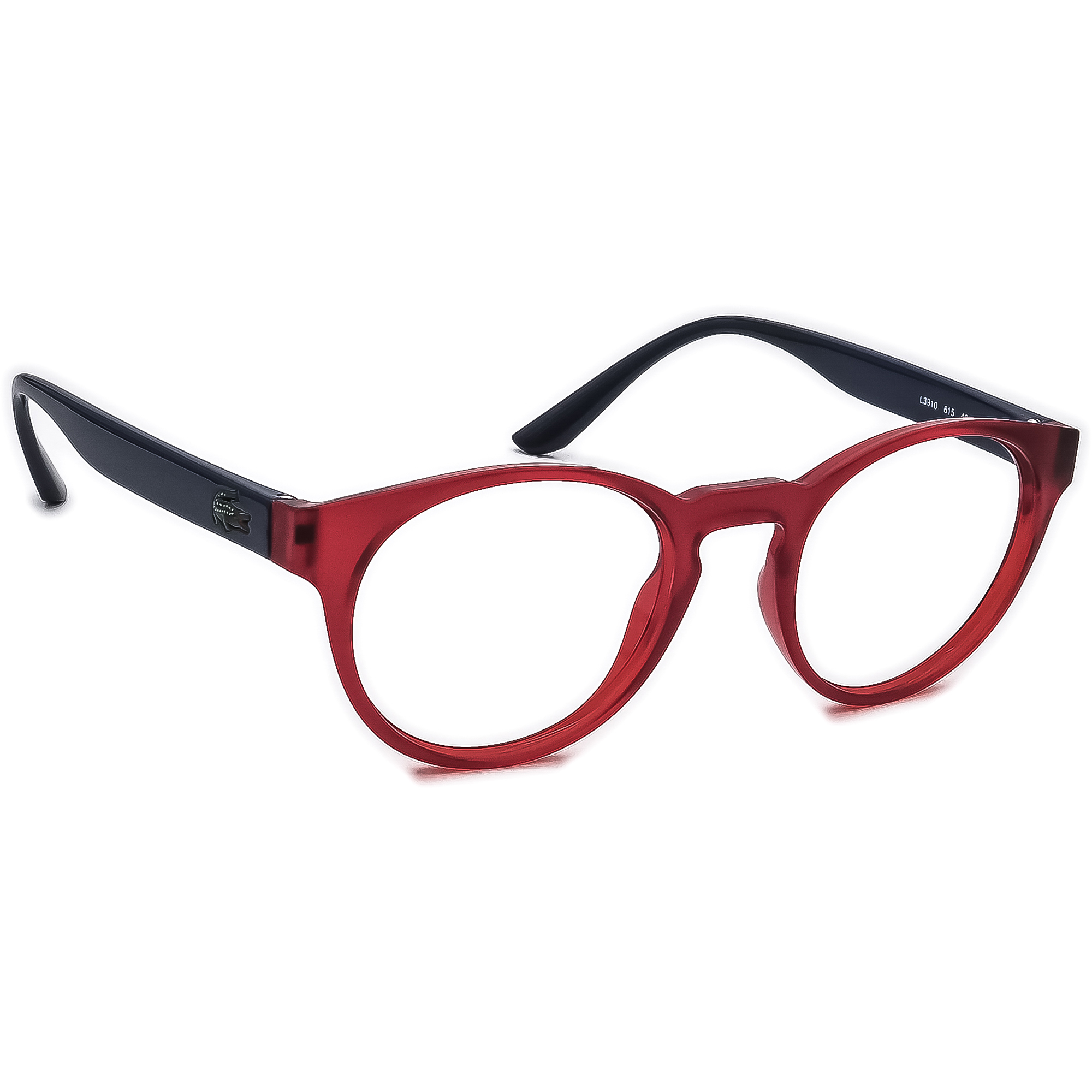 Lacoste Eyeglasses L3910 615 Red/Blue Round Frame Italy 46[]19 140 Small