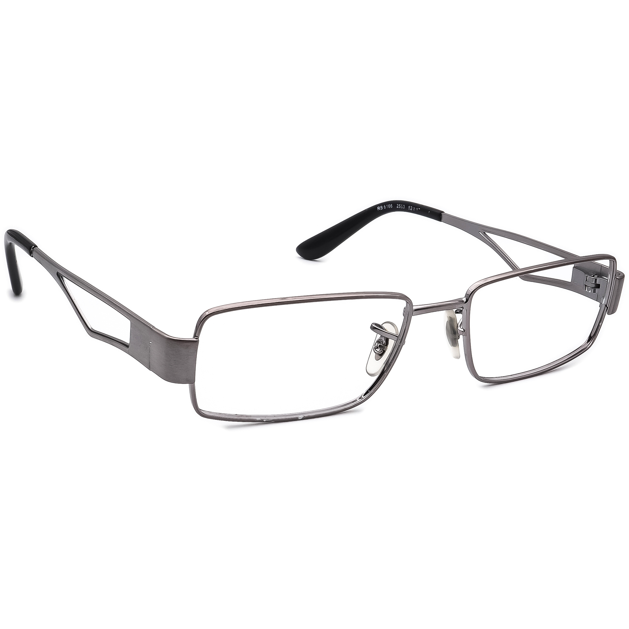 Ray Ban Men's Eyeglasses RB 6166 2553 Gray Rectangular Metal Frame 52[]17 135