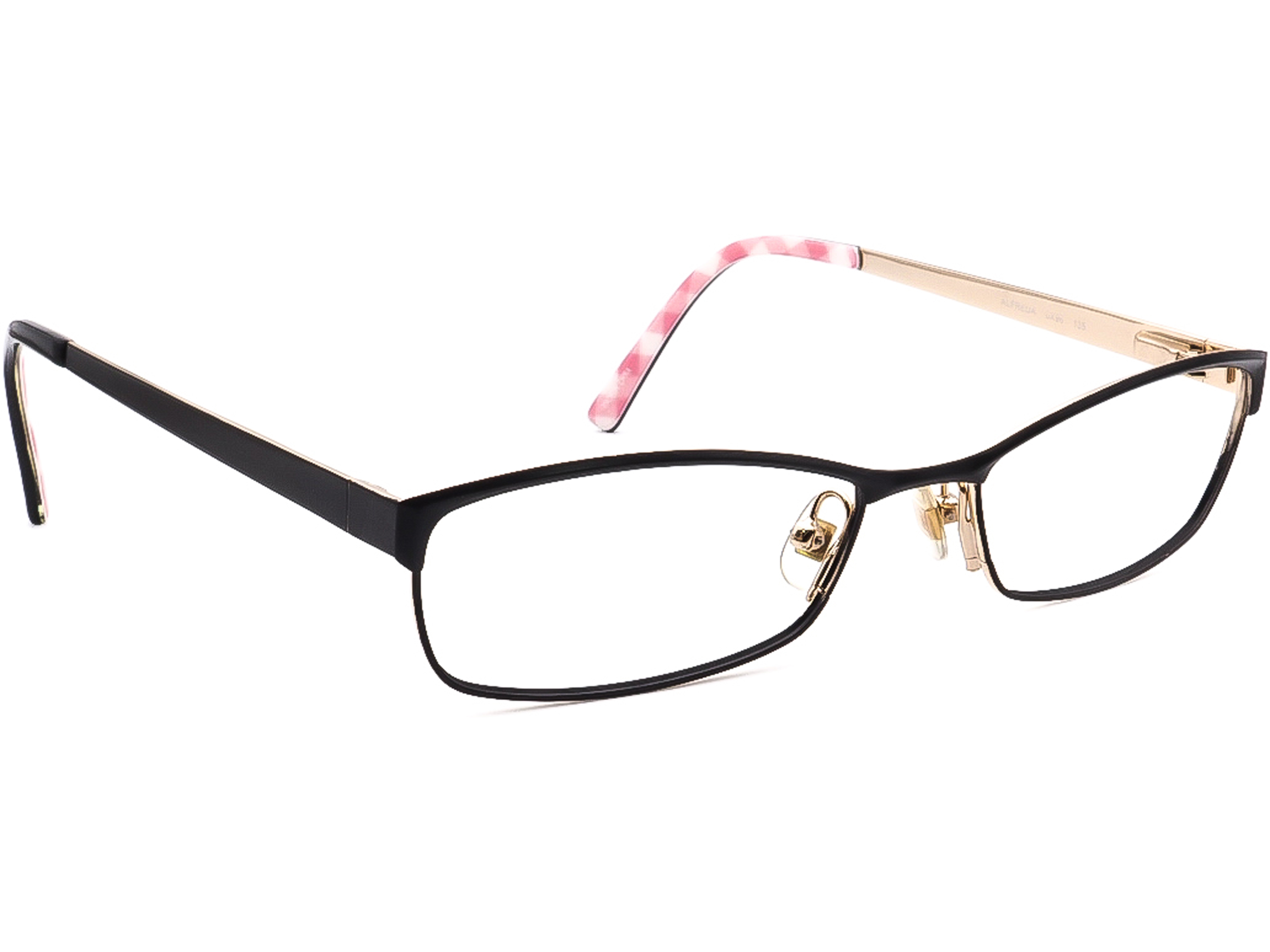 Kate Spade Eyeglasses Alfreda 0X96 Black/Gold Other Shape Metal Frame 51[]18 135