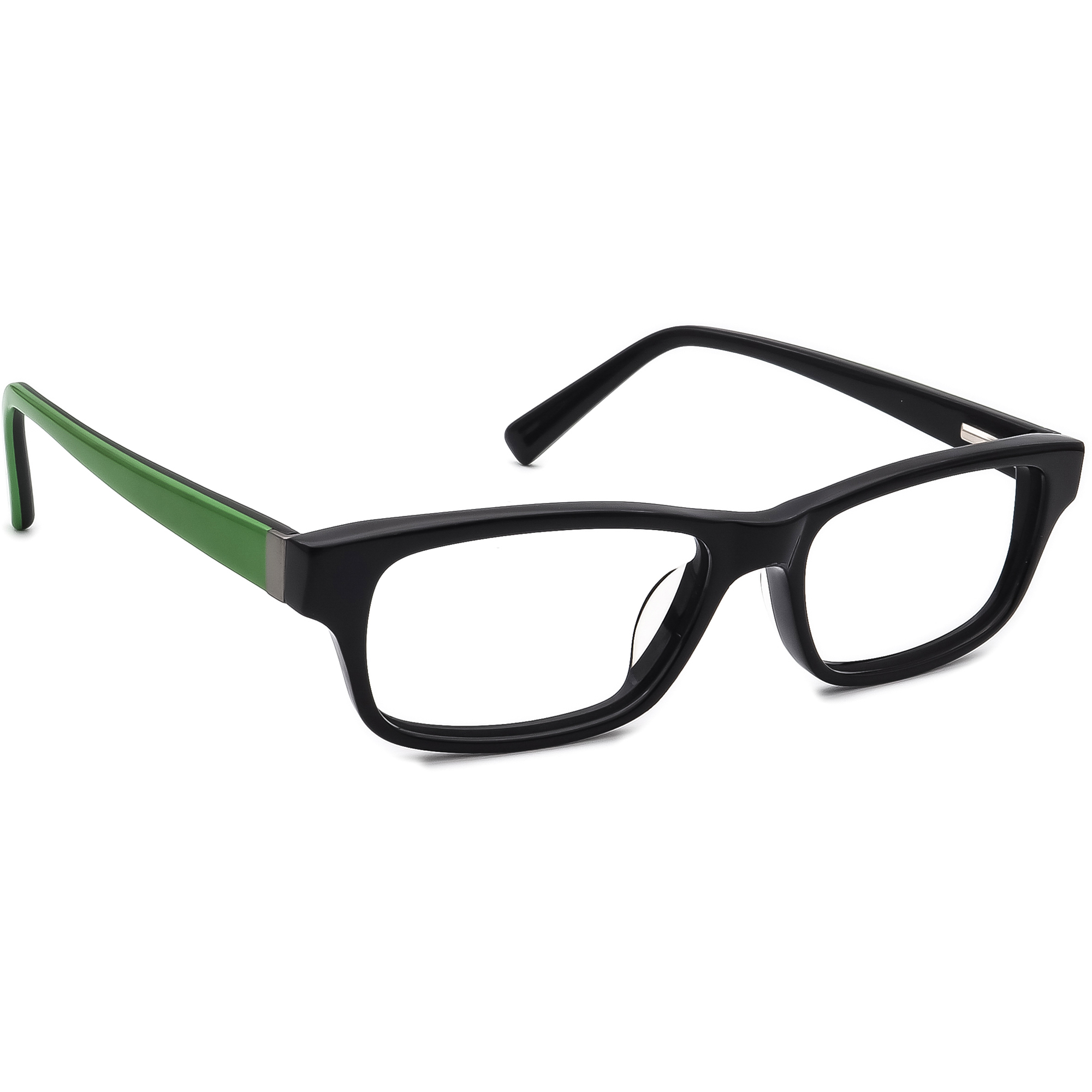 Nike Men's Eyeglasses 5518 010 Black/Green Rectangular Frame 49[]15 130 Small