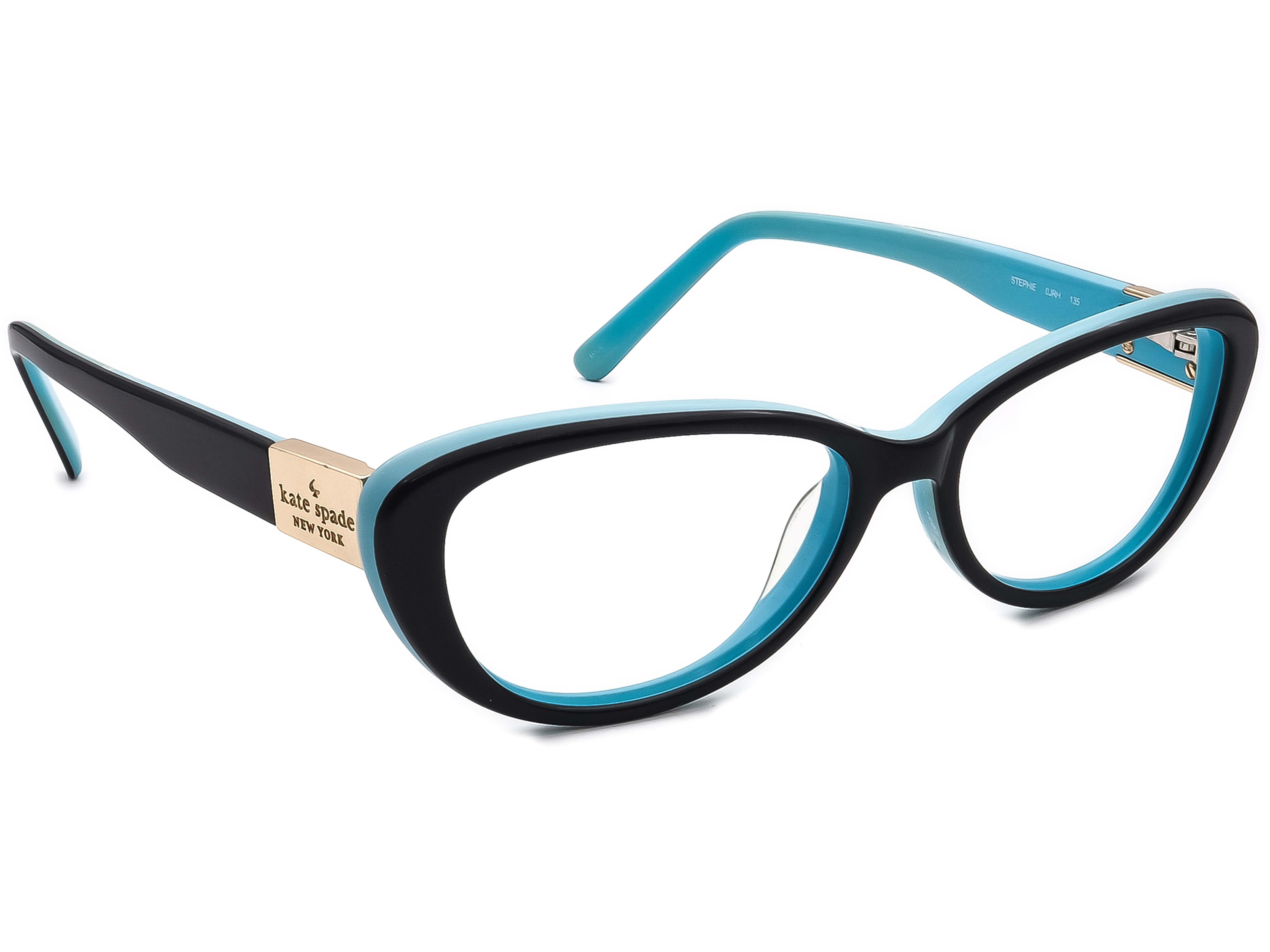 Kate Spade Eyeglasses Stephie 0JRH Black/Blue Cat Eye Frame 51[]15 135