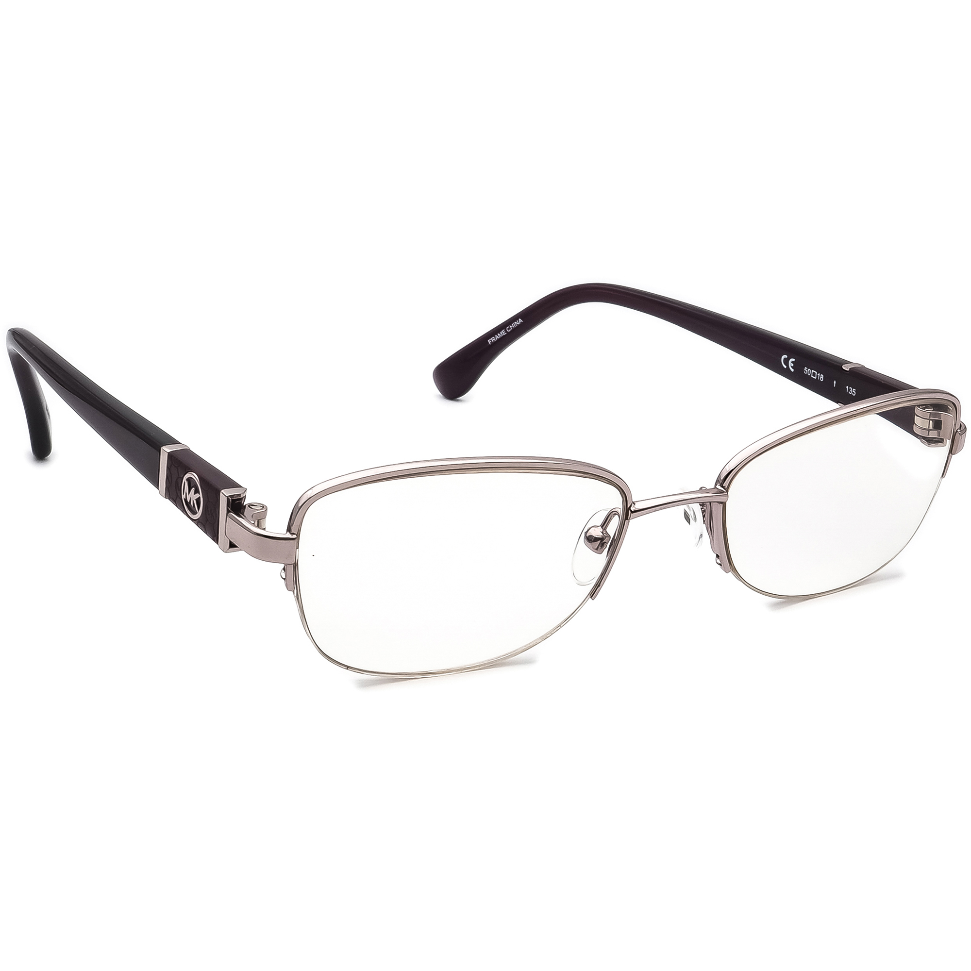 Michael Kors Eyeglasses MK340 503 Purple Polish Half Rim Frame 50[]18 135