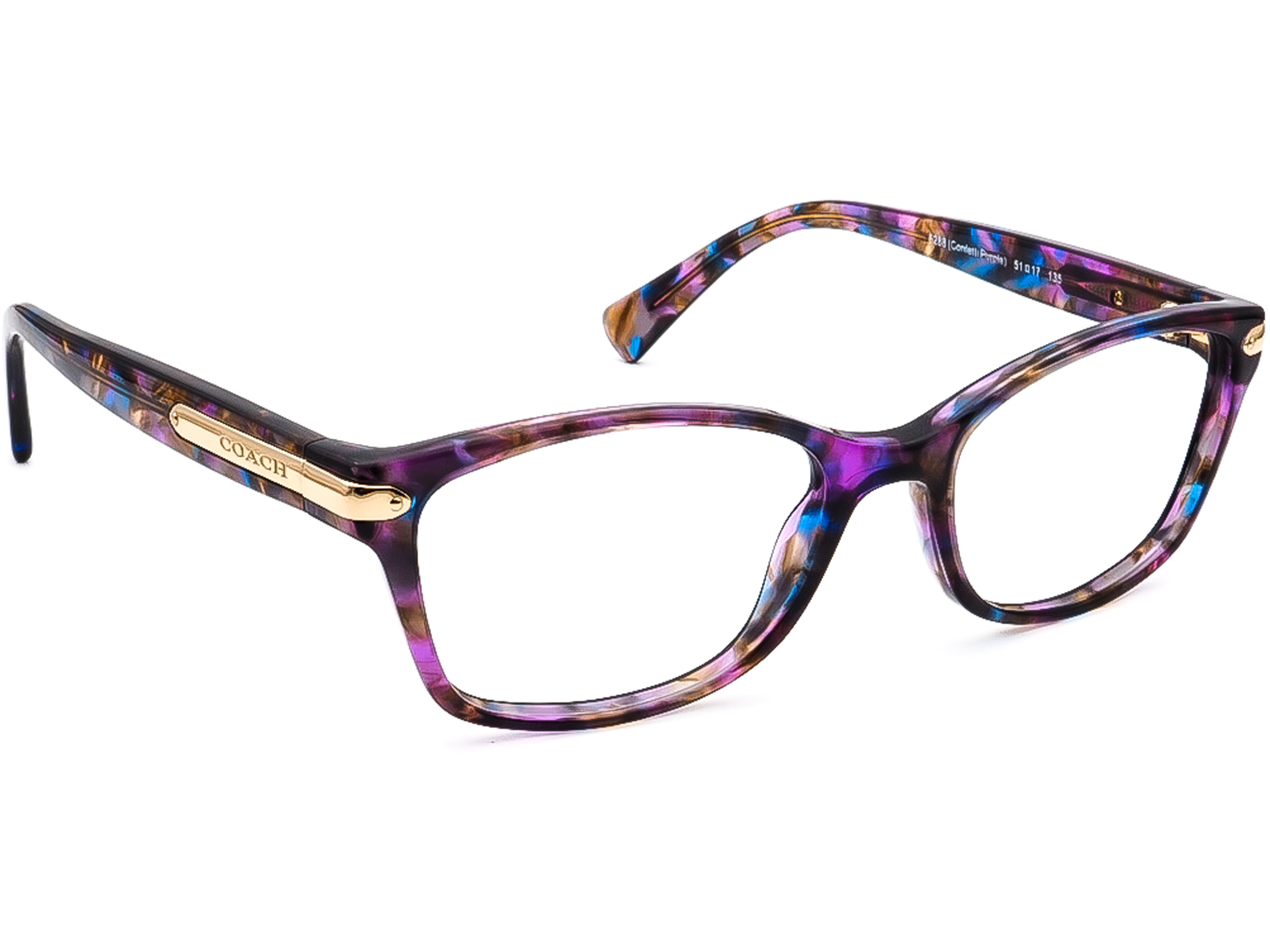 Coach HC 6065 T 5288 Confetti Purple Eyeglasses