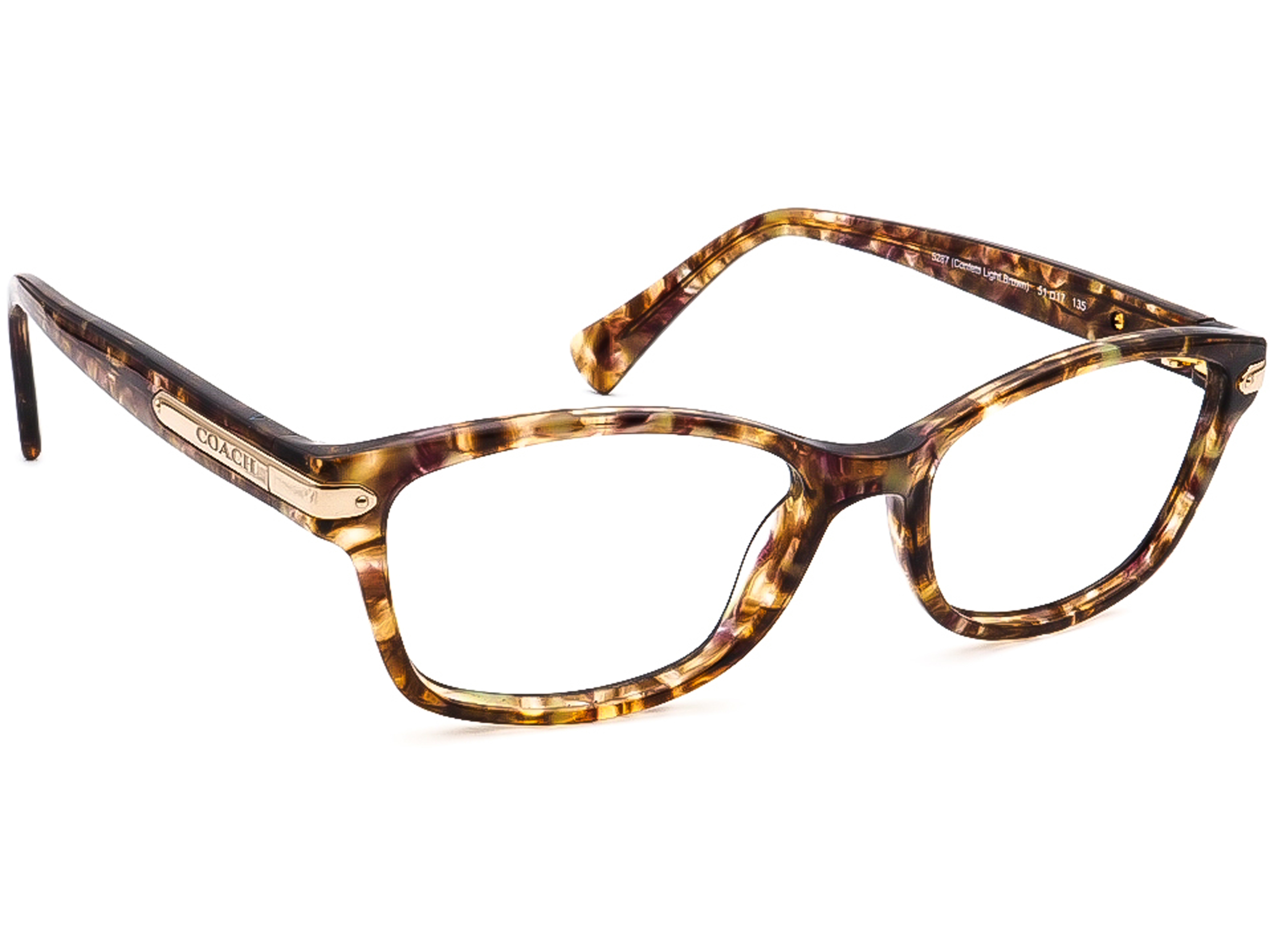 Coach HC 6065 Z 5287 Confetti Light Brown Eyeglasses