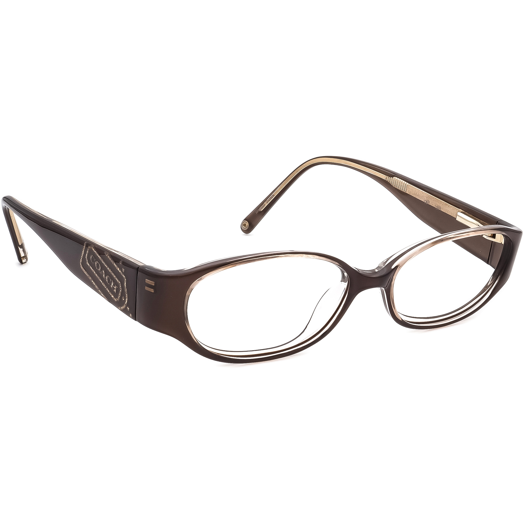 Coach Eyeglasses Lucinda 2011 Brown Brown Oval Frame 49[]15 135