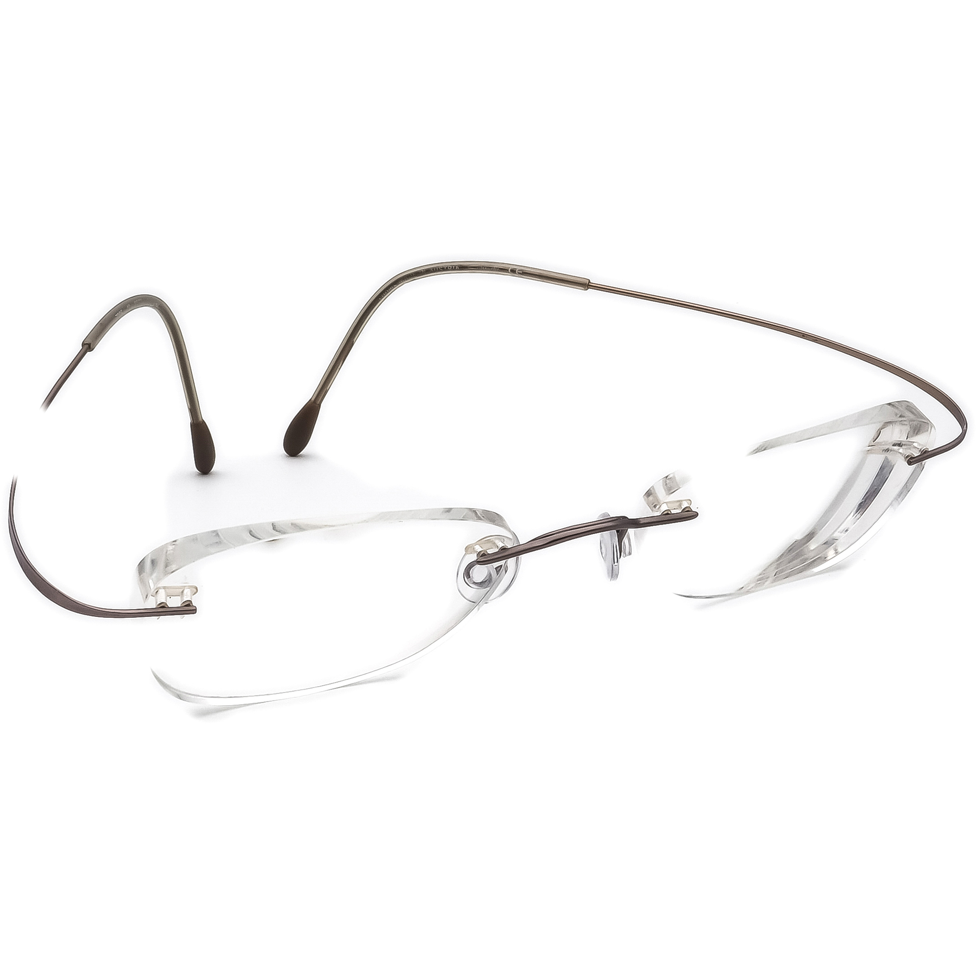 Silhouette Eyeglasses 7395 6073 Brushed Purple Rimless Frame Austria 48[]19 140