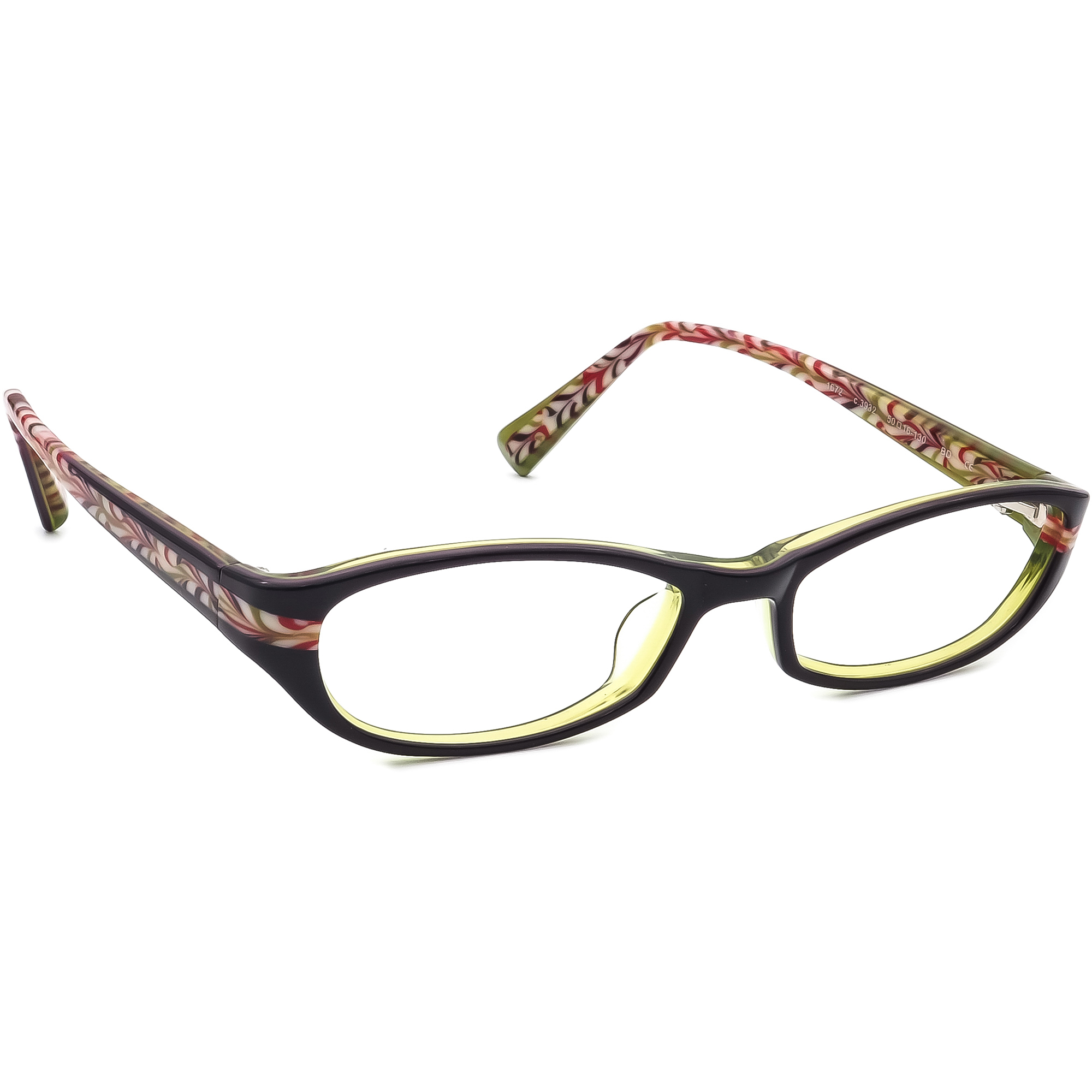 Prodesign Denmark Eyeglasses 1672 C.3932 Dark Aubergine/Green Japan 50[]16 130