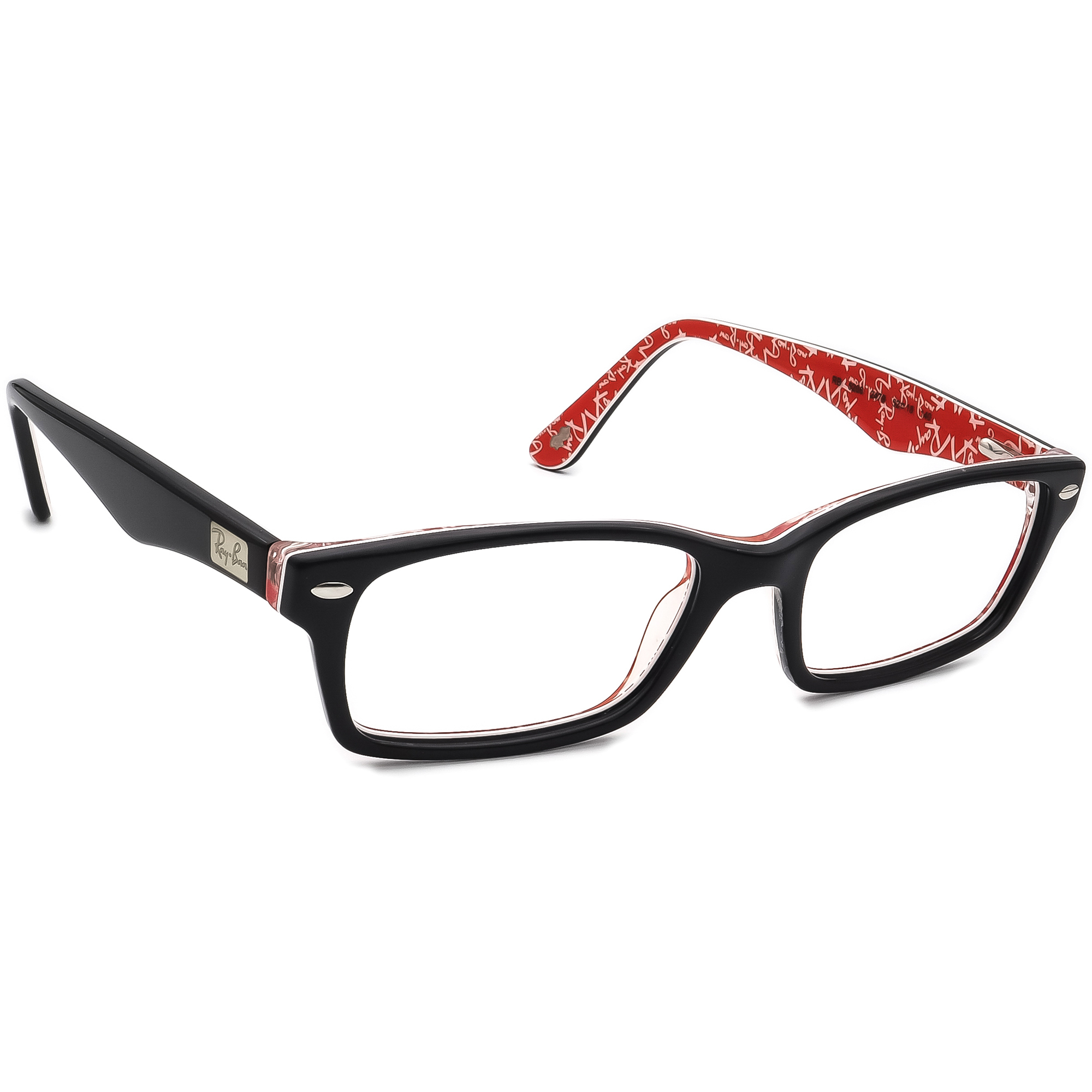 Ray Ban Eyeglasses RB 5206 2479 Black Rectangular Frame 52[]18 140