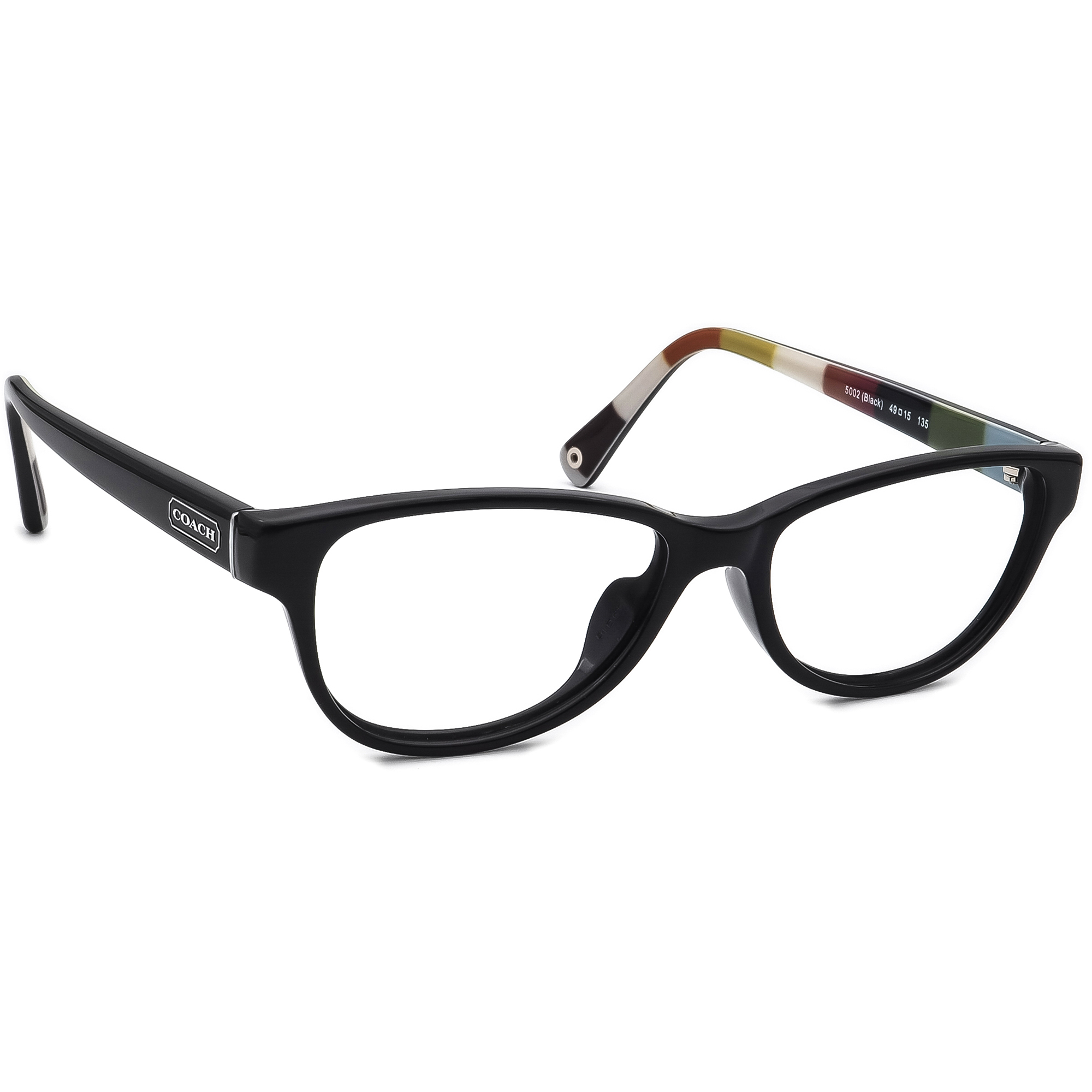 Coach Eyeglasses HC 6012 Dakota 5002 Black Full Rim Frame 49[]15 135