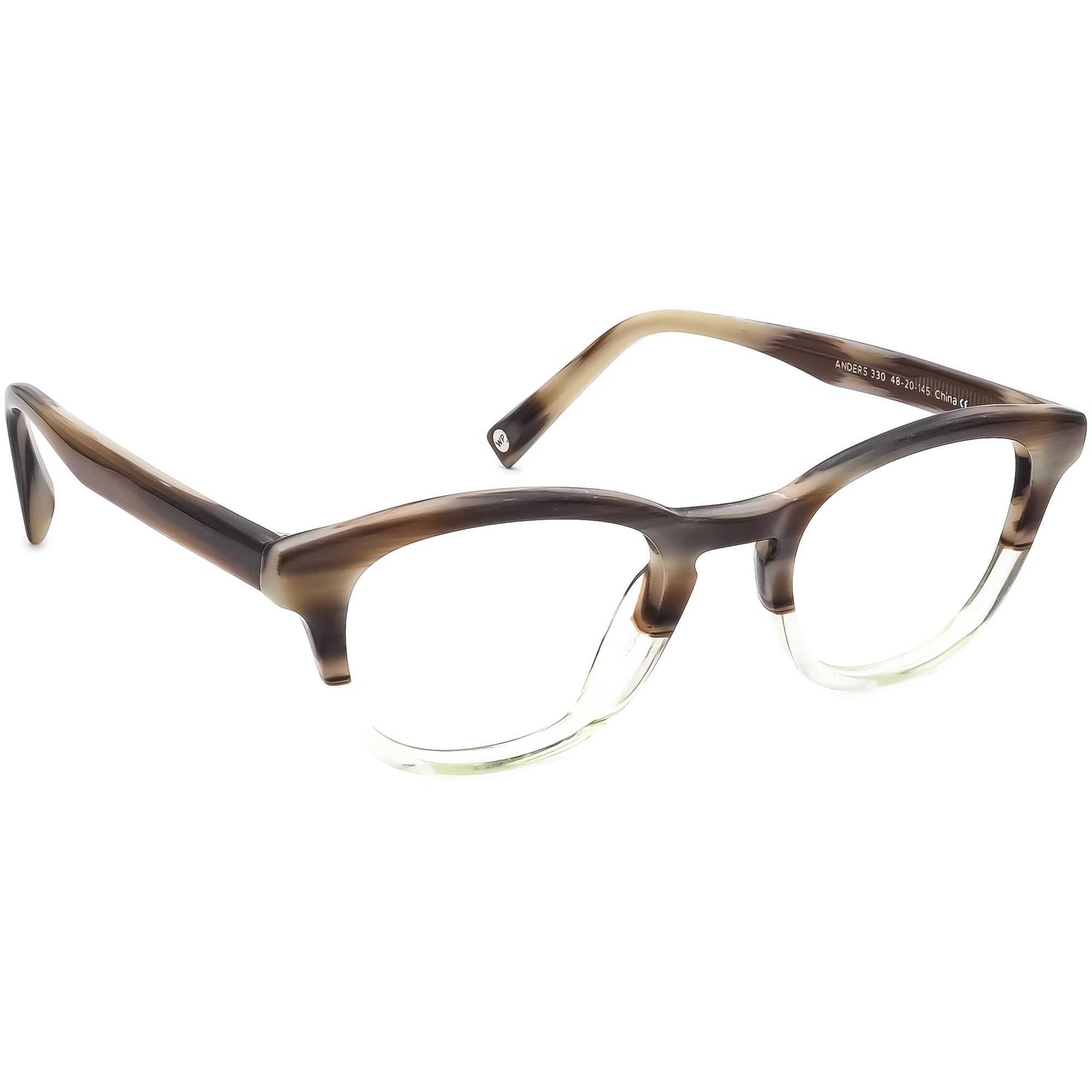 Warby Parker Eyeglasses Anders 330 Brown/Clear Full Rim Frame 48[]20 145