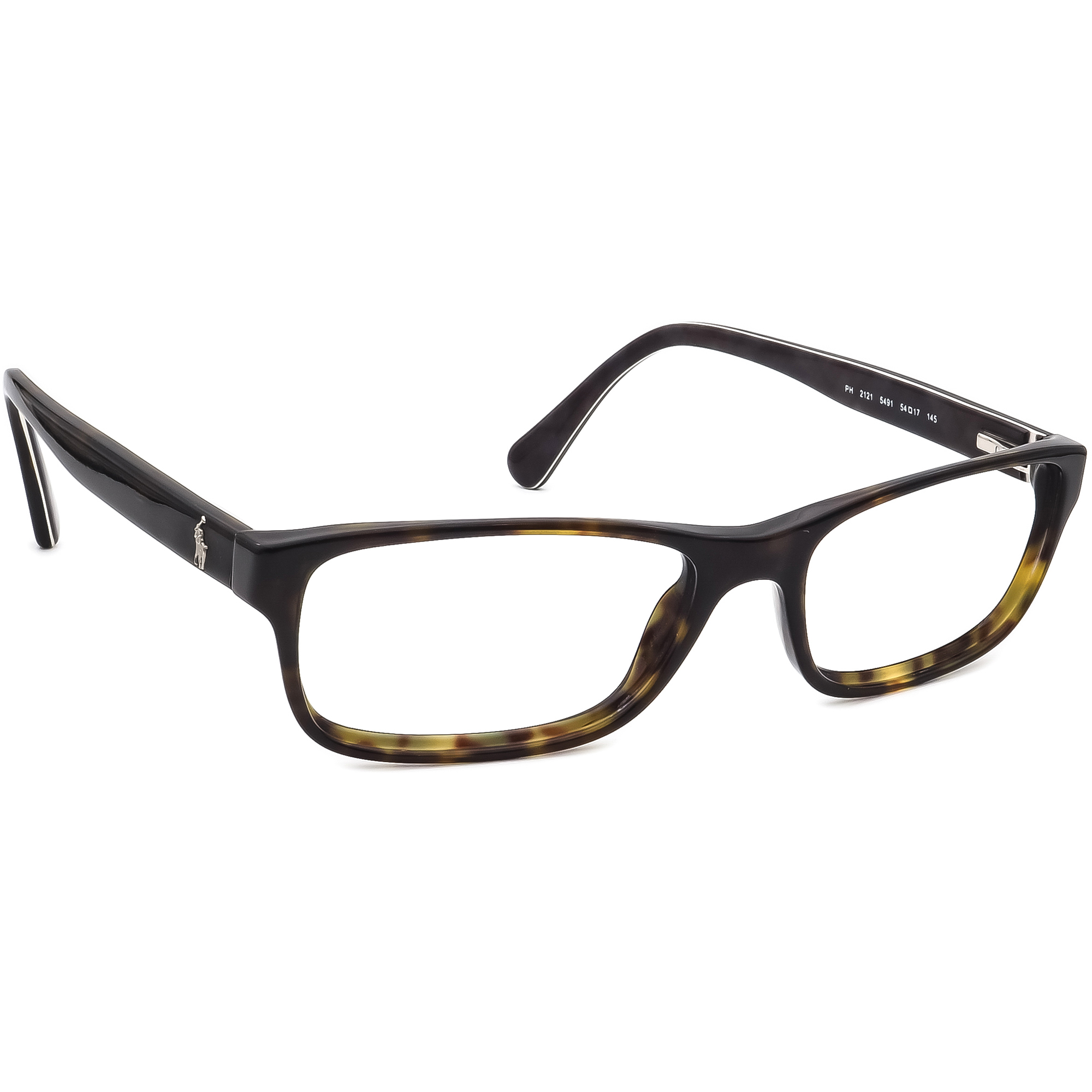 Ralph Lauren Polo Eyeglasses PH 2121 5491 Dark Tortoise Frame 54[]17 145