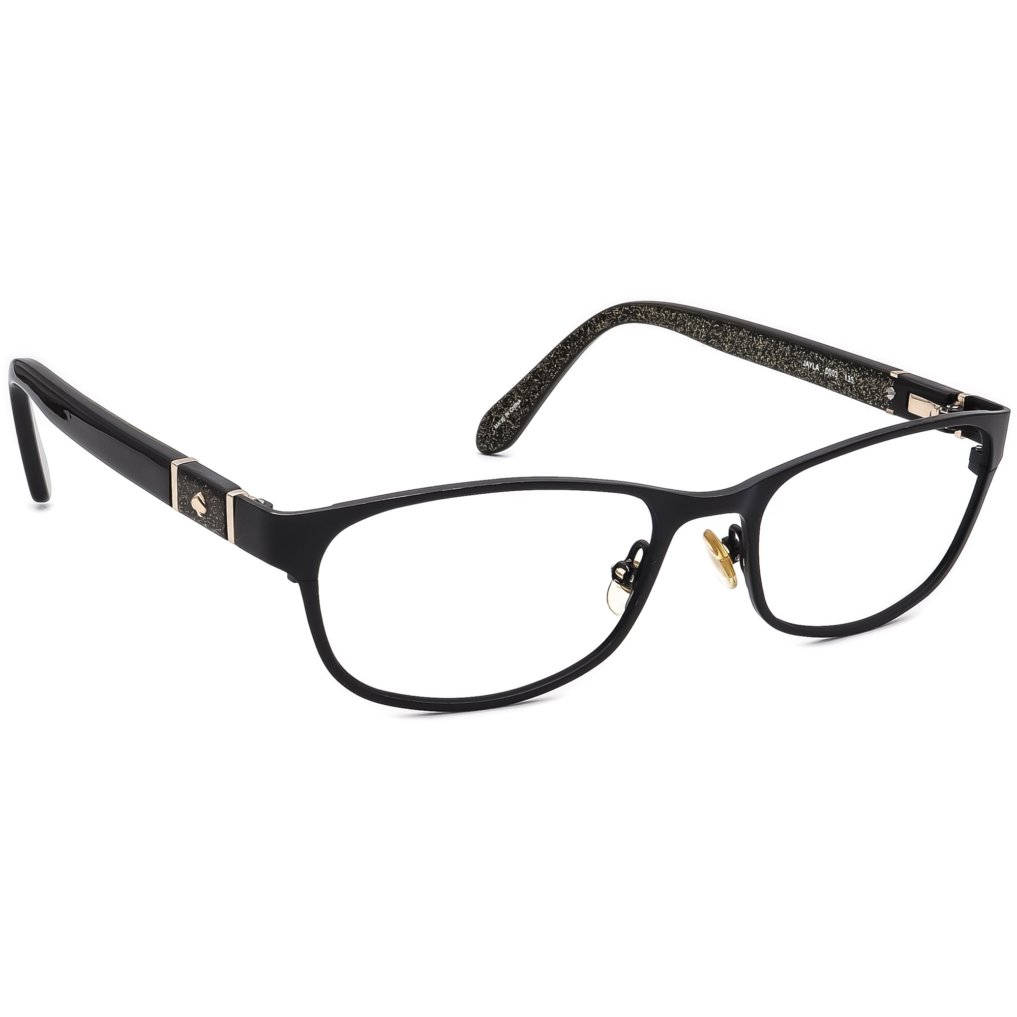 Kate Spade Women's Eyeglasses Jayla 0003 Black/Gold Glitter Frame 50[]17 135