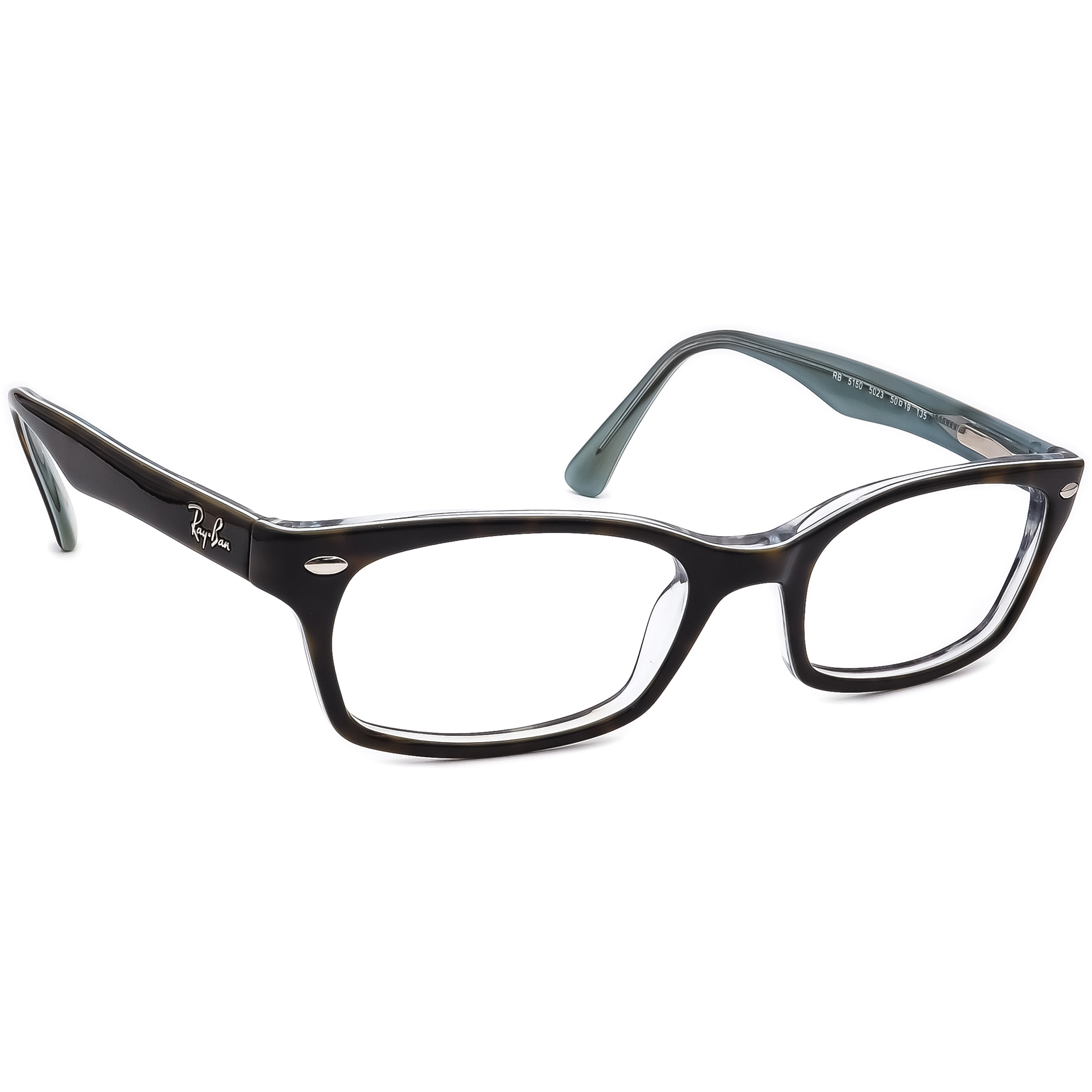 Ray Ban Eyeglasses RB 5150 5023 Dark Tortoise on Blue Horn Rim Frame 50[]19 135