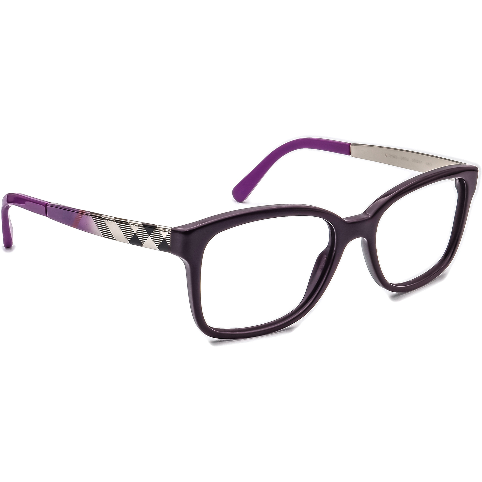 Burberry B 2143 3400 Plaid Eyeglasses