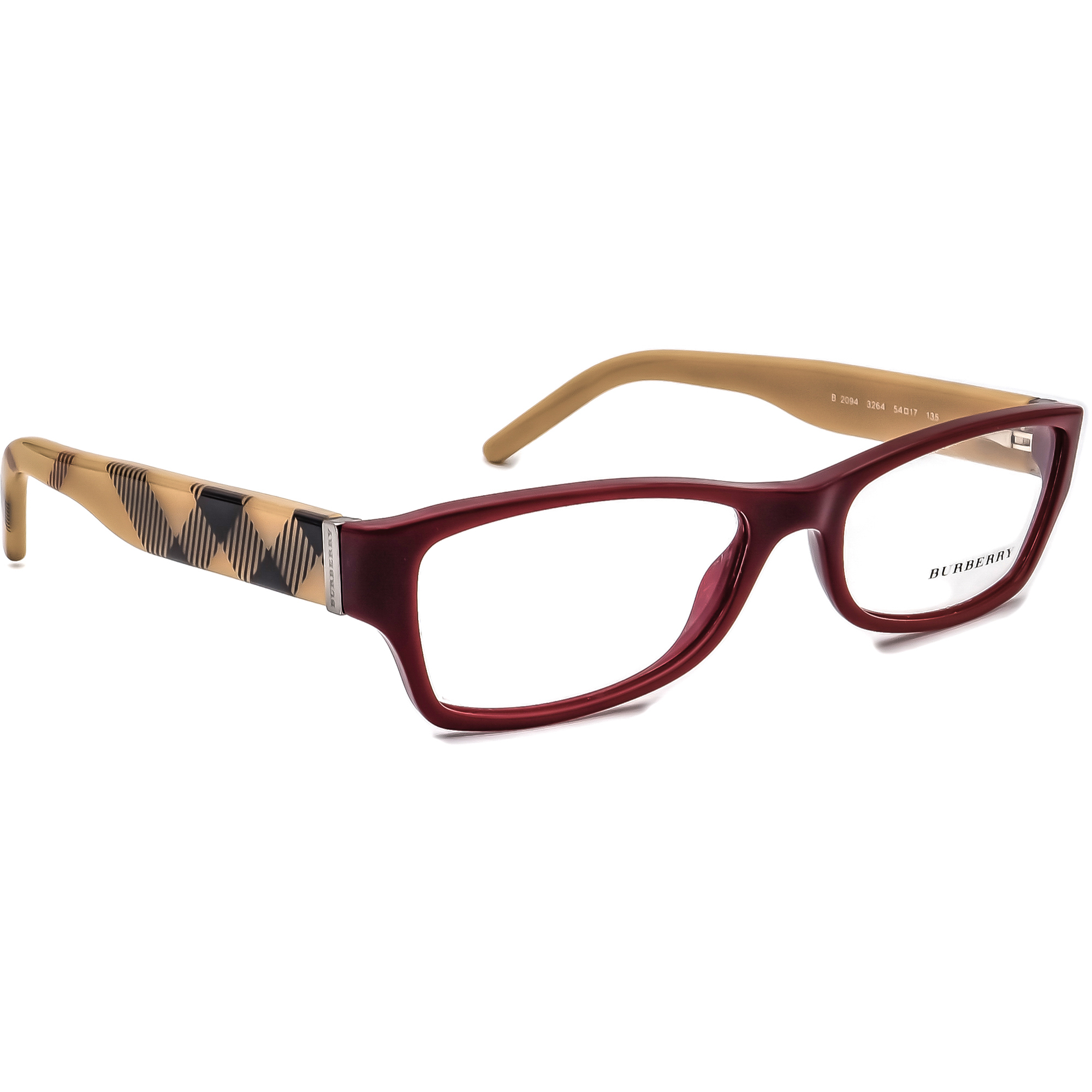 Burberry B 2094 3264 Plaid Eyeglasses