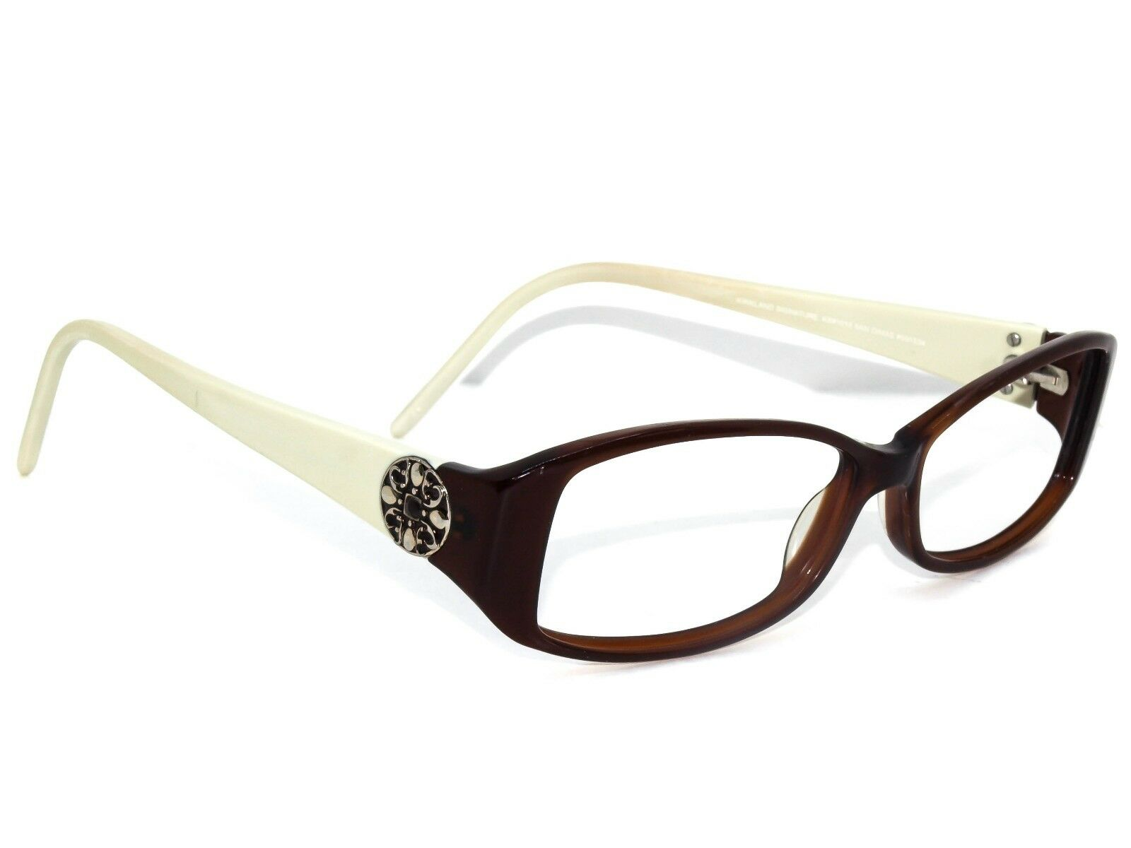 Kirkland Signature  KS 1015 San Dimas Brown/white Sunglasses Frame Only