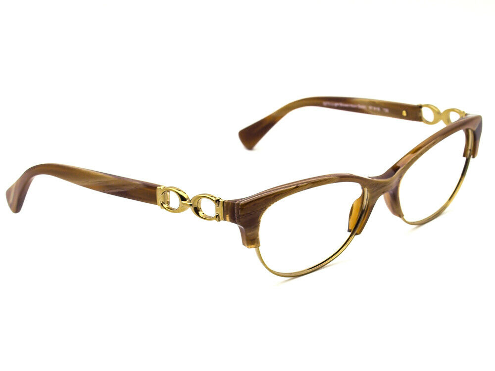 Coach HC 5063 Kitty 5272 Light Brown Horn Gold Eyeglasses